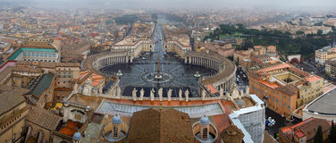 Panorama of Vatican Stock Photography