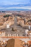 Panorama of Vatican and Rome Royalty Free Stock Images