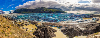 Panorama of Vatnajokull glacier and mountains. Iceland Stock Image