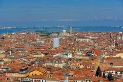 Panorama, vecchie costruzioni, Venezia, Venezia, Italia Fotografia Stock