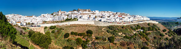 Panorama of Vejer de la Frontera Royalty Free Stock Photo