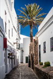 Panorama of Vejer de la Frontera Stock Photography