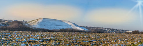 Panorama Velbert, commercial landscape Röbbeck and landfill Pl Stock Photos