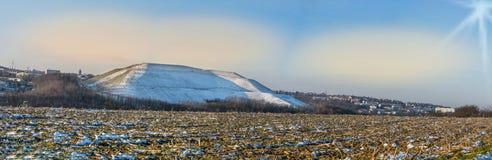 Panorama Velbert, reklama krajobrazowy Röbbeck i wysypisko Pl, Zdjęcia Stock