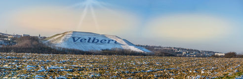 Panorama Velbert, reklama krajobrazowy Röbbeck i wysypisko Pl, Obraz Royalty Free