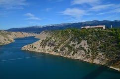 Panorama of Velebit mountains. Sveto Brdo, Vaganski vrh, Paklanica. Seline, Starigrad, Modric. Croatia. View from Stock Images