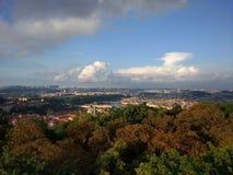 Panorama velho da cidade de Praga imagens de stock