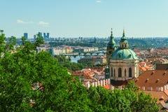 Panorama velho da cidade de Praga fotografia de stock