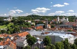 Panorama velho da cidade de Vilnius Foto de Stock