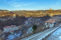 Panorama of Veliko Tarnovo in Bulgaria Stock Photo