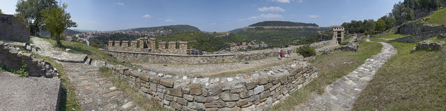Panorama of Veliko Tyrnovo. Bulgaria. Panorama of the ancient part of Veliko Tyrnovo with bridge. Bulgaria Royalty Free Stock Photos
