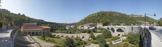 Panorama of Veliko Tyrnovo. Bulgaria. Panorama of Veliko Tyrnovo with bridge. Bulgaria Stock Photography