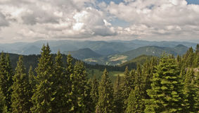 Panorama of Velka Fatra mountains Stock Photography