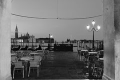 Panorama- Venedig stadsgeometri arkivbilder