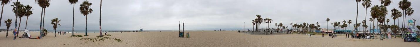 Panorama- Venedig strand arkivbilder
