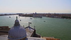 Panorama of Venice and Grand Canal from top of St. George's Church, tourism. Stock footage stock footage