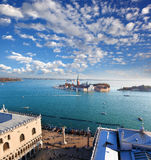 Panorama of Venice in Italy Royalty Free Stock Photo