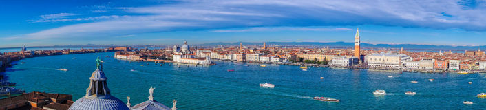 Panorama of Venice in Italy Stock Photos