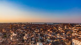 Panorama of Venice at Sunset royalty free stock photography