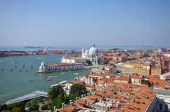 Panorama of Venice view from St. Mark's Campanile Royalty Free Stock Images