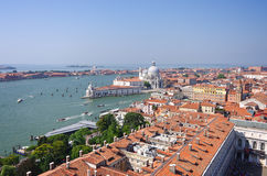 Panorama of Venice view from St. Mark's Campanile Stock Photos