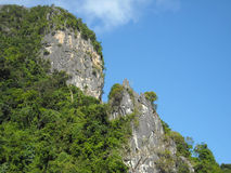 Panorama of verdant hills in South-East Asia Royalty Free Stock Photography