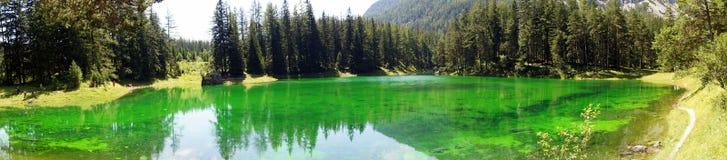 Panorama verde de la opinión de Estiria Austria del lago Foto de archivo libre de regalías