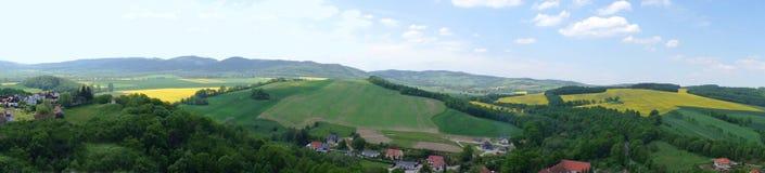 Panorama verde del villaggio Fotografia Stock Libera da Diritti