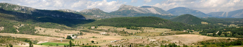 Panorama Verdon region (Provence) Stock Images