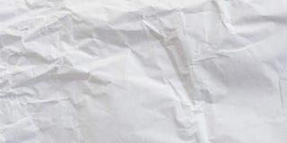 Panorama verfrommelde document witte textuur en achtergrond royalty-vrije stock afbeeldingen