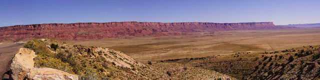 Panorama of  Vermillion Cliffs Stock Image