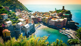 Panorama of Vernazza Cinque Terre Stock Images