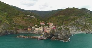 Scenic Vernazza village stock video footage