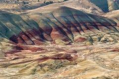 Panorama verniciato delle colline fotografie stock