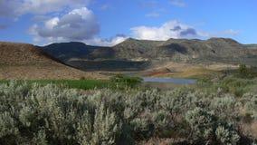 Panorama verniciato delle colline immagini stock libere da diritti