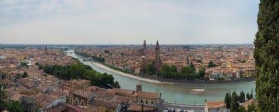 Panorama- Verona Arkivfoton