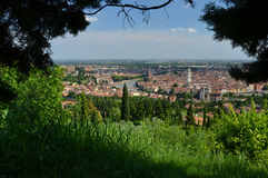 Panorama of Verona from bird's perspective Stock Photos