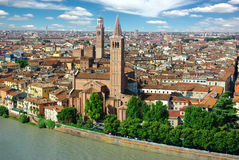 Panorama of Verona, Itali Stock Images