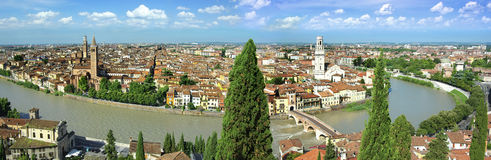 Panorama of Verona, Itali Stock Image