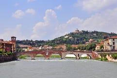 Panorama of Verona old town Stock Photo