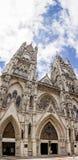 Panorama vertical de la basilique à Quito, Equateur Photo stock
