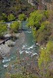 Panorama vertical del río de la flecha, Arrowtown, Nueva Zelanda fotos de archivo libres de regalías