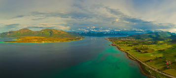 Panorama on Vesteralen islands Stock Photography