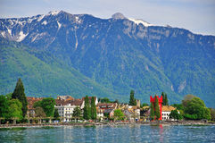 Panorama of Vevey Stock Photo