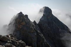 Panorama via den Ferrata rutten i de Lienz dolomitesna, Österrike Royaltyfri Foto