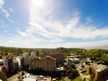 Panorama of Vicente Lopez Royalty Free Stock Images