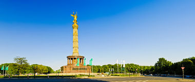 Panorama victory column in berlin Stock Photo
