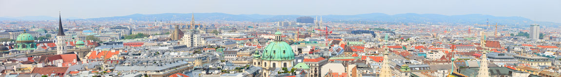 panorama vienna Royaltyfri Fotografi
