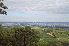 Panorama of Vienna. Vienna view from Kahlenberg hill stock photo
