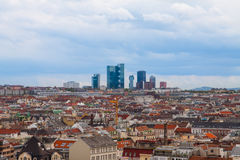 Panorama of the Vienna, Austria. Stock Image